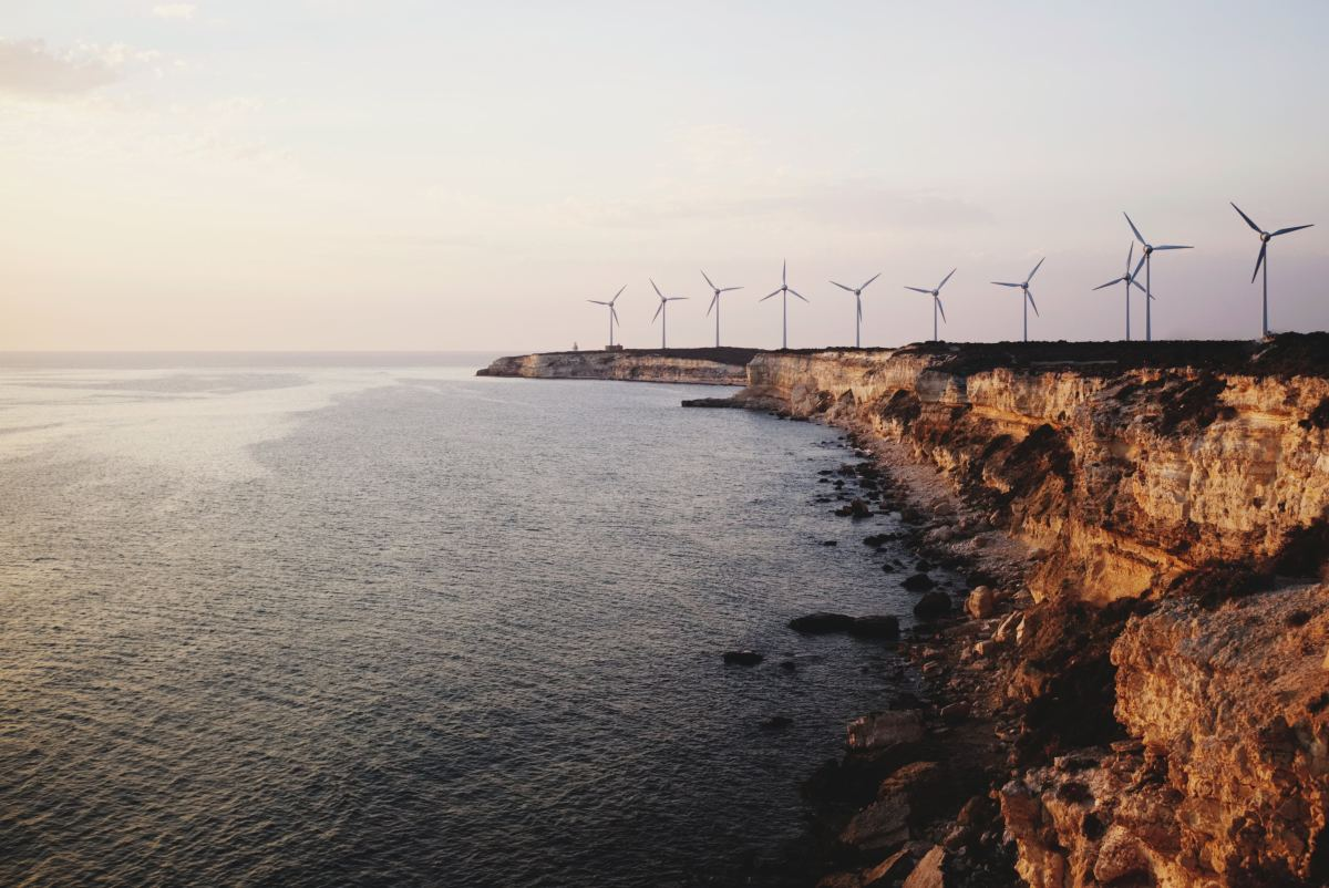A wind farm near the town of Canakkale, in northwestern Turkey.