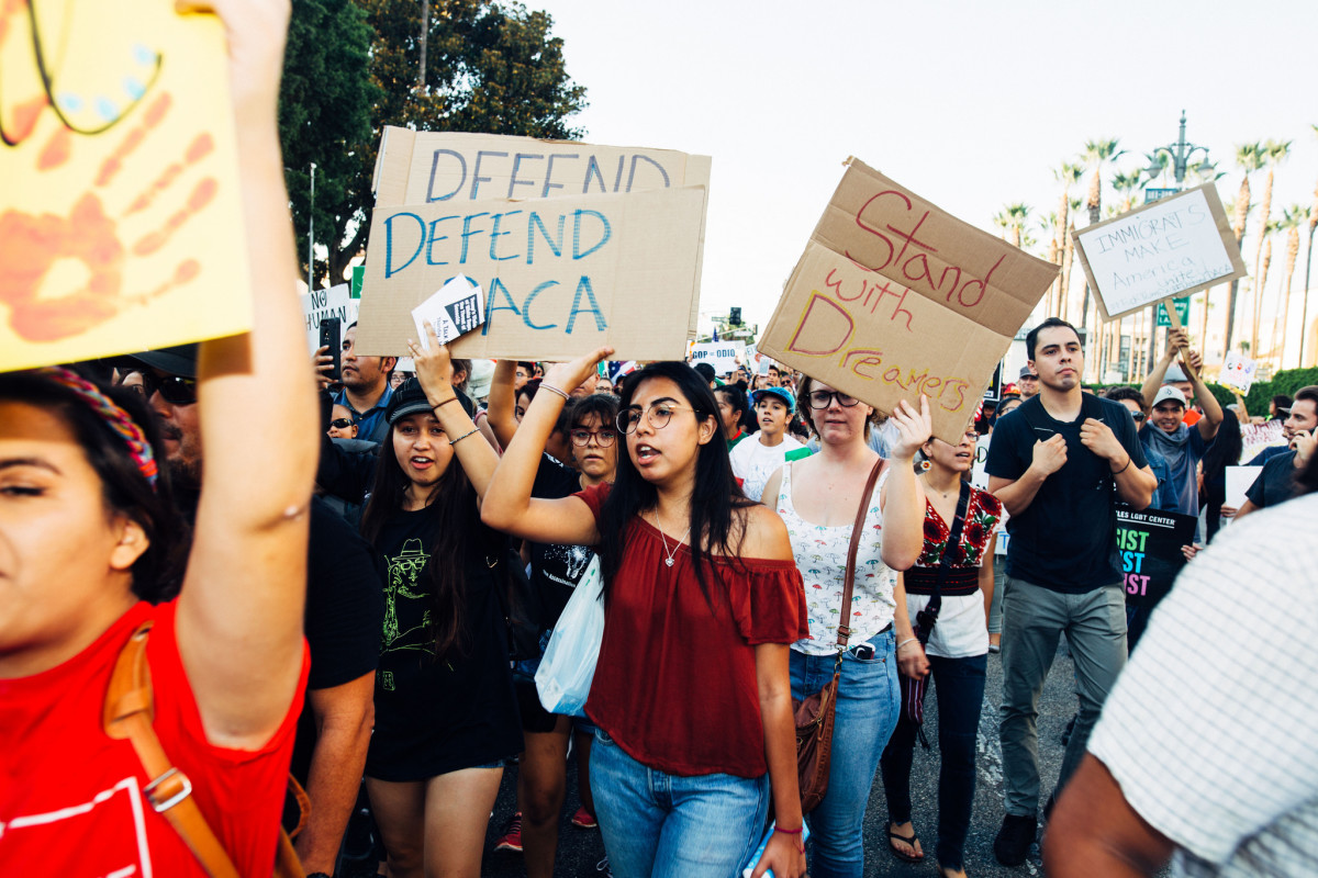 A protest to defend DACA in Los Angeles, California, in 2017.