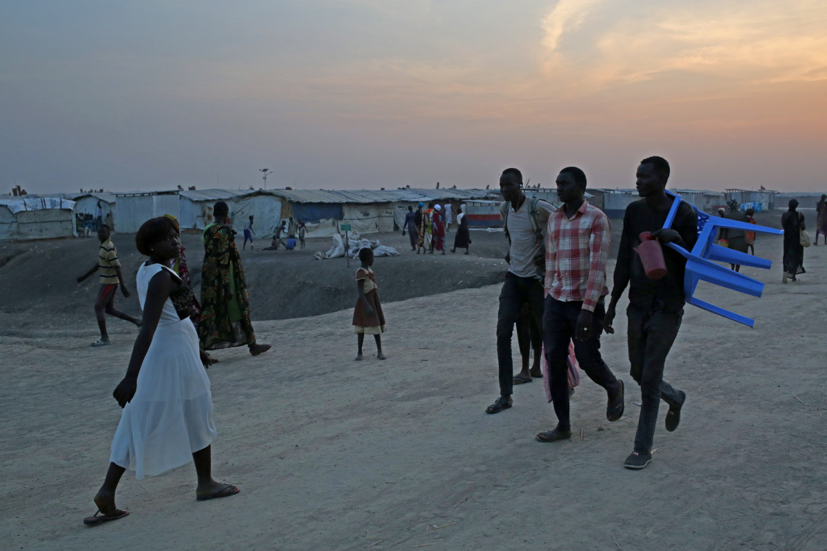 More than 100,000 South Sudanese have sought refuge in the U.N. protection site in Bentiu, South Sudan.
