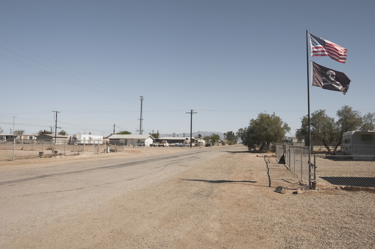 Avenue F in Bombay Beach, California.