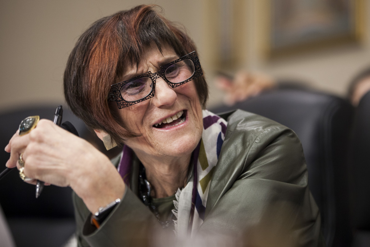 Representative Rosa DeLauro speaks during a budgetary hearing in Washington, D.C., on March 28th, 2017.