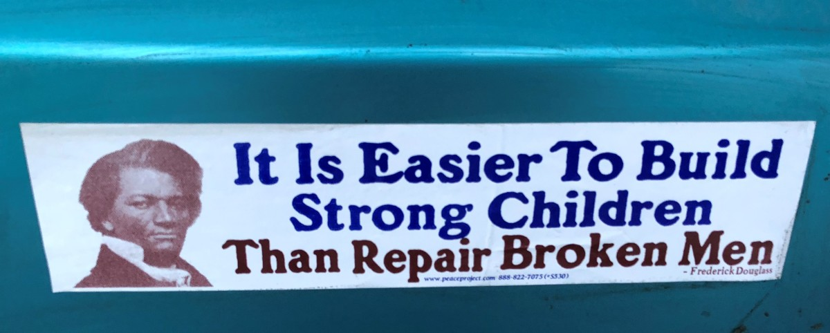 Here's the quote on a bumper sticker.