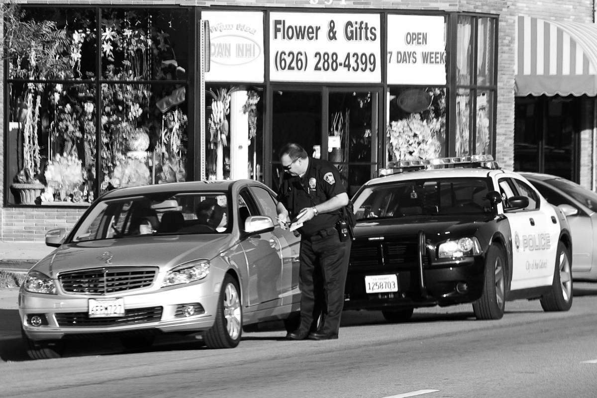 A San Gabriel police officer.