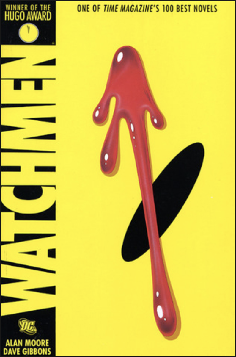 A cover for the graphic novel, Watchmen.