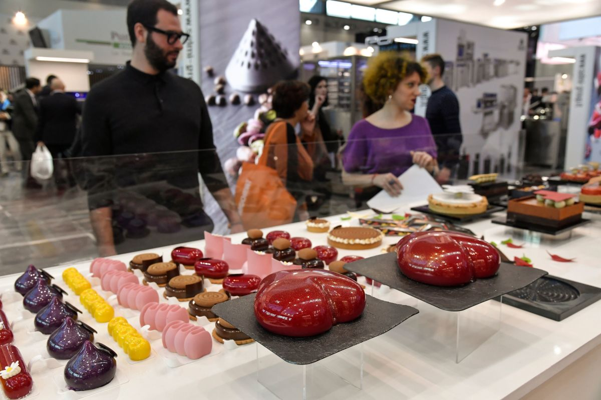 People visit the 39th International Trade Show of Artisan Gelato, Pastry, Bakery and Coffee (SIGEP) in Rimini, Italy, on January 21st, 2018.