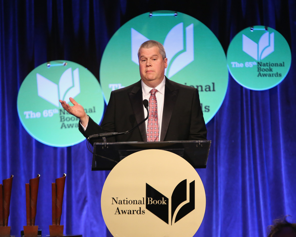 Daniel Handler, aka Lemony Snicket, speaking at the 2014 National Book Awards on November 19th, 2014, in New York City.
