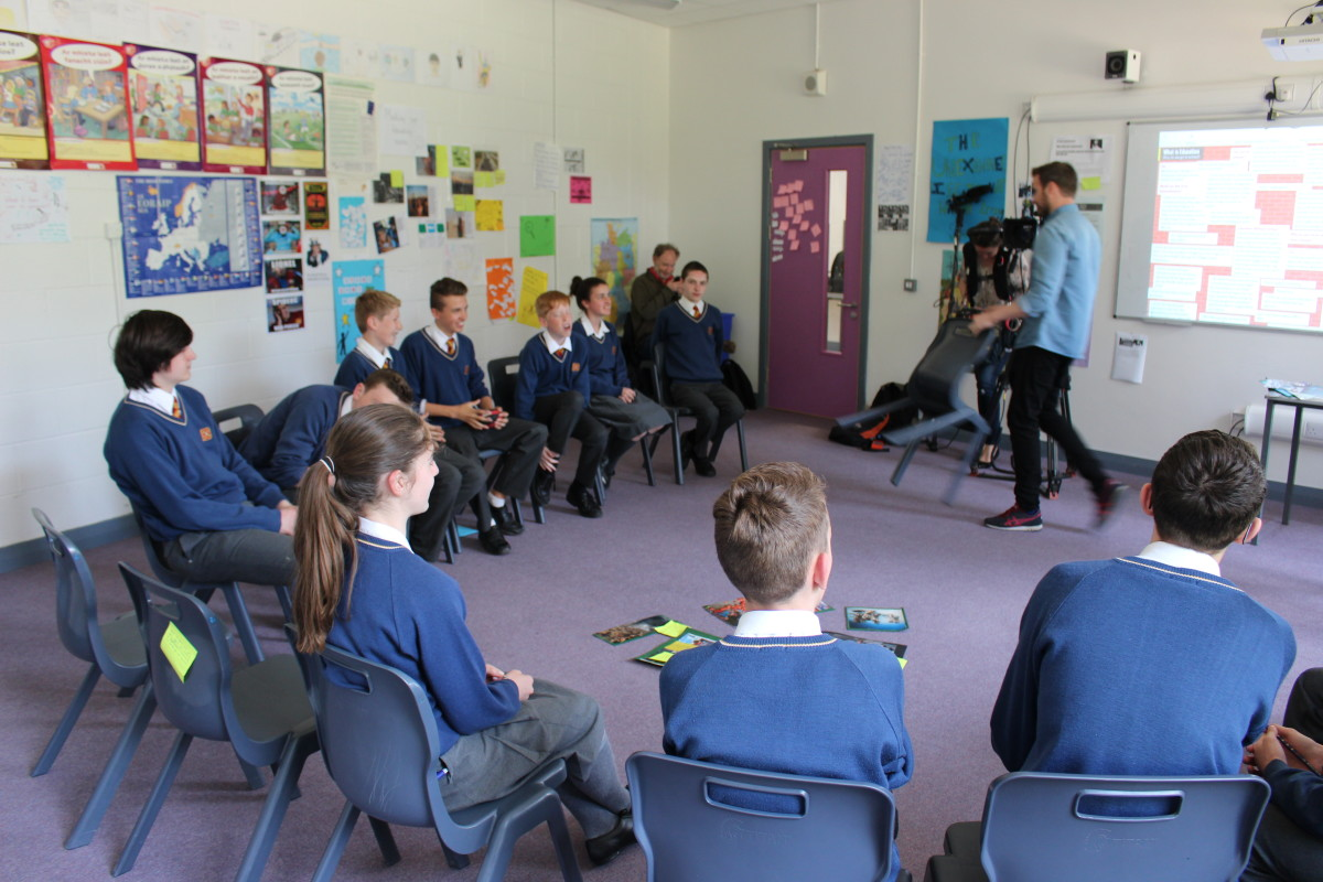 Students at Temple Carrig School participate in a philosophical discussion.