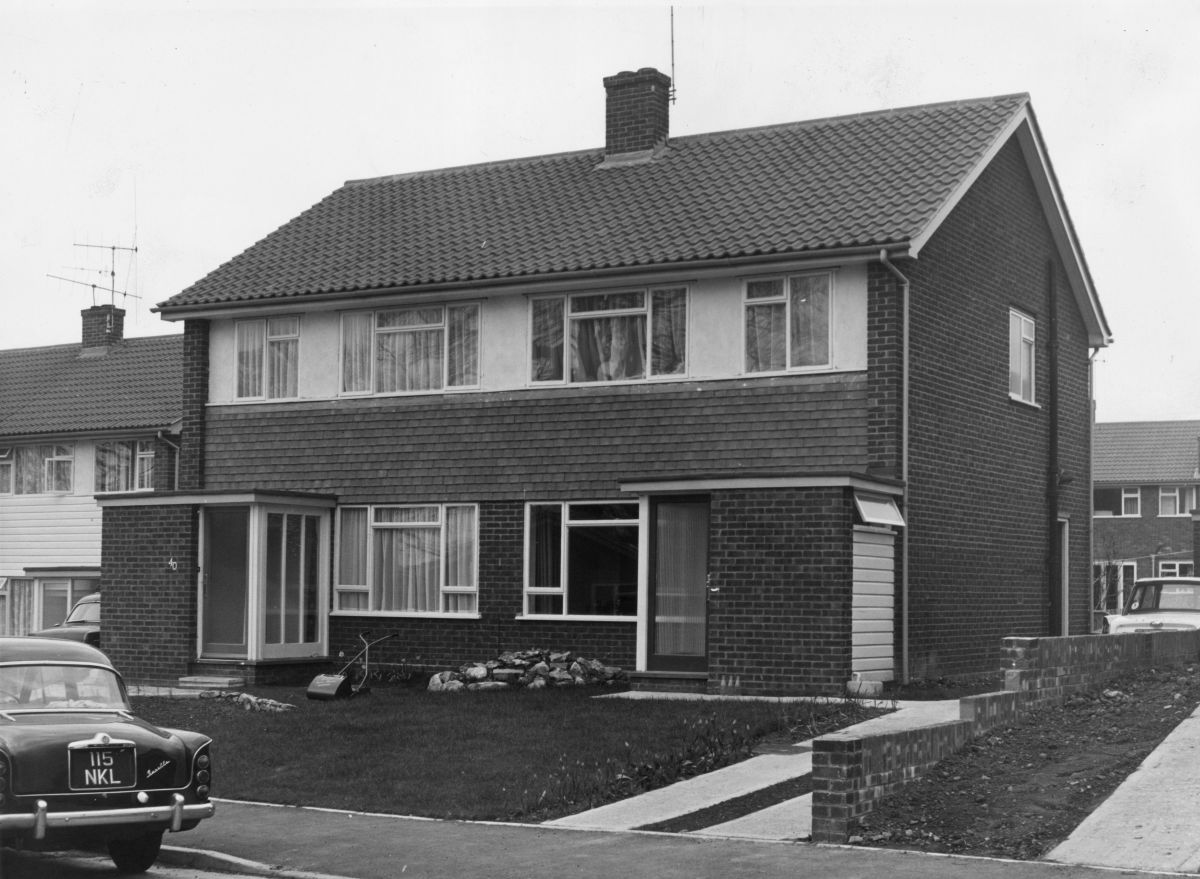A suburban house, circa 1968.