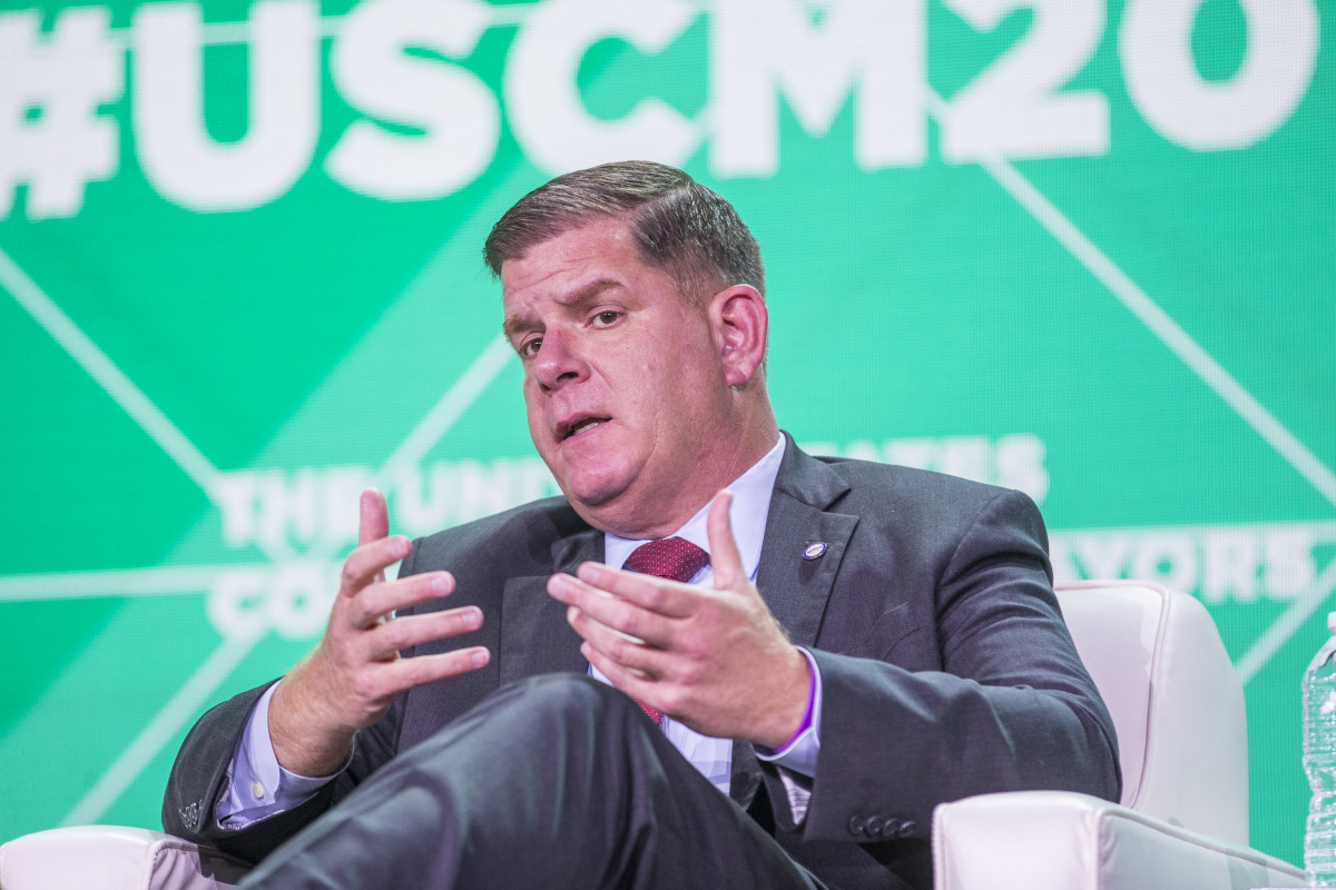 Mayor of Boston Marty Walsh during a session on how communities can use technology to grow and thrive.
