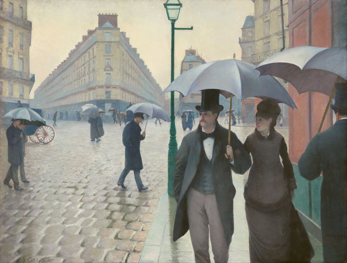 Paris Street, Rainy Day, by Gustave Caillebotte (1877).