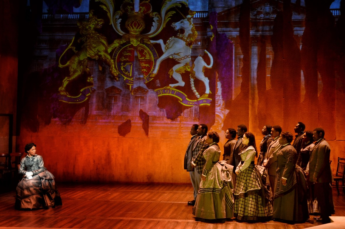 The Fisk Jubilee Singers performing for Queen Victoria in Jubilee.