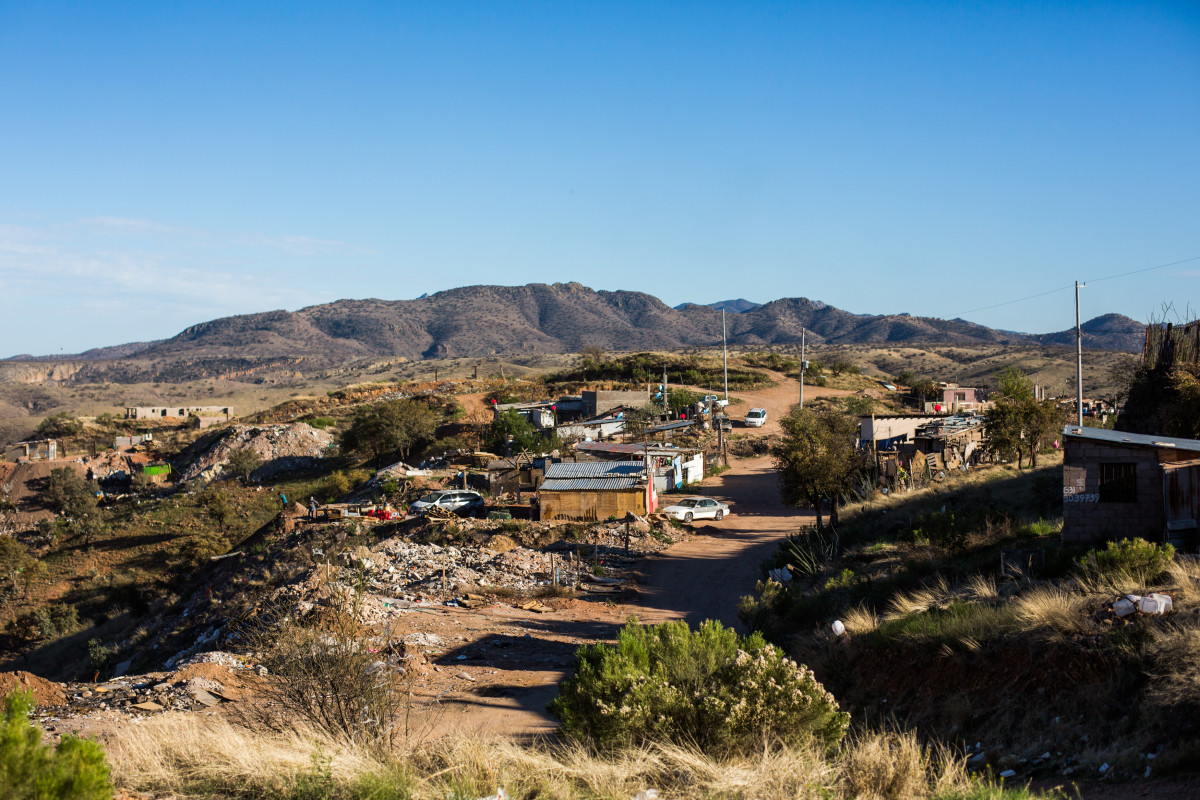 Rosarito II, a makeshift neighborhood in the outer hills of Nogales, grew out of an old dump. The unclaimed, refuse-strewn land is a popular place for recent deportees to settle, including Panchito. With very little commercial value, no one complained as new residents began to move in.
