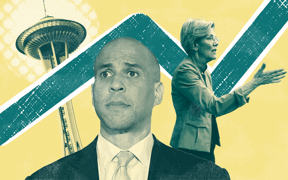 Cory Booker, Elizabeth Warren, the Space Needle.
