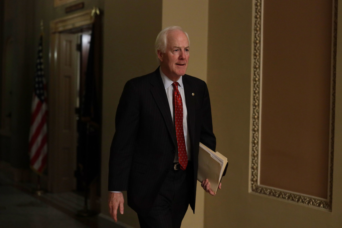 Texas Senator John Cornyn pictured in the U.S. Capitol on January 28th, 2019, in Washington, D.C.
