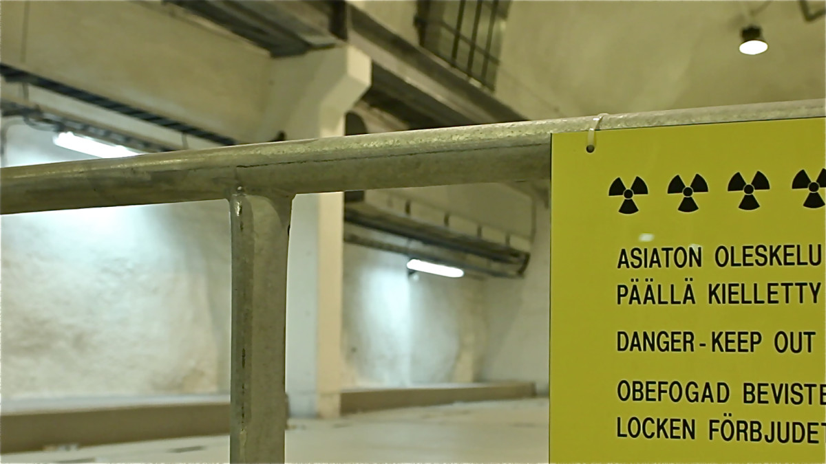 Signage at Onkalo, the world's first permanent repository being built to store nuclear waste for the next hundred thousand years.