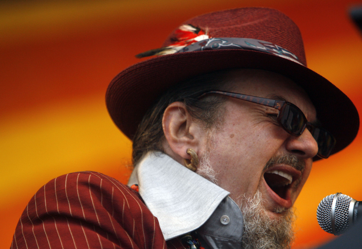 Dr. John performs during day two of the New Orleans Jazz & Heritage Festival on April 26th, 2008, in New Orleans, Louisiana.