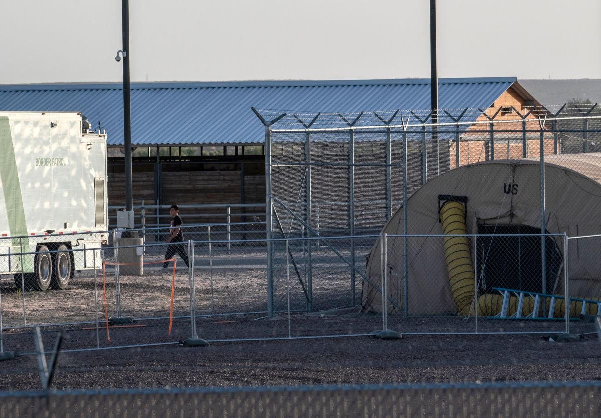 A temporary facility set up to hold immigrants is pictured at a U.S. Border Patrol Station in Clint, Texas, on June 21st, 2019. Lawyers who toured the facility said they witnessed inhumane conditions there.