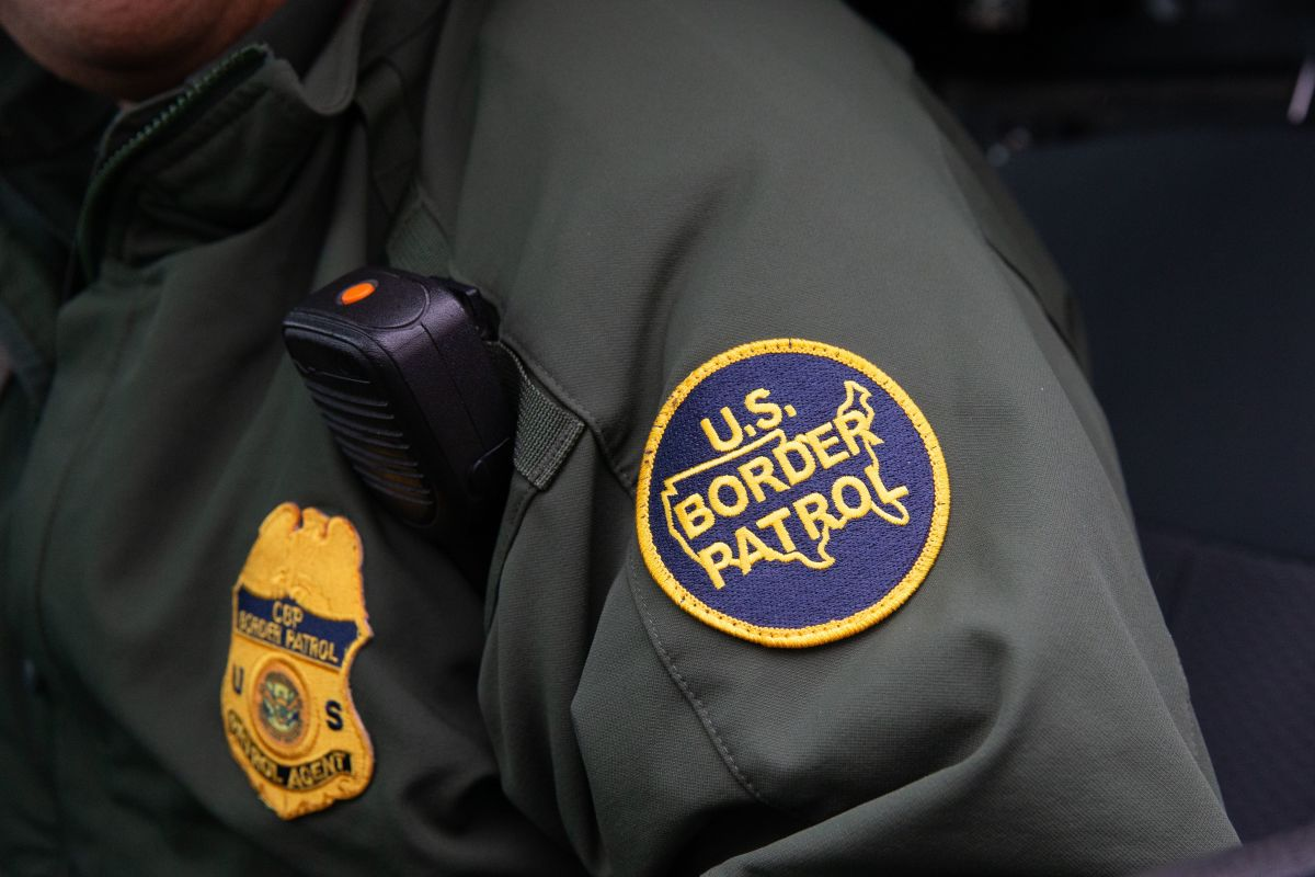 This photo shows a U.S. Border Patrol patch on a border agent's uniform in McAllen, Texas, on January 15th, 2019.
