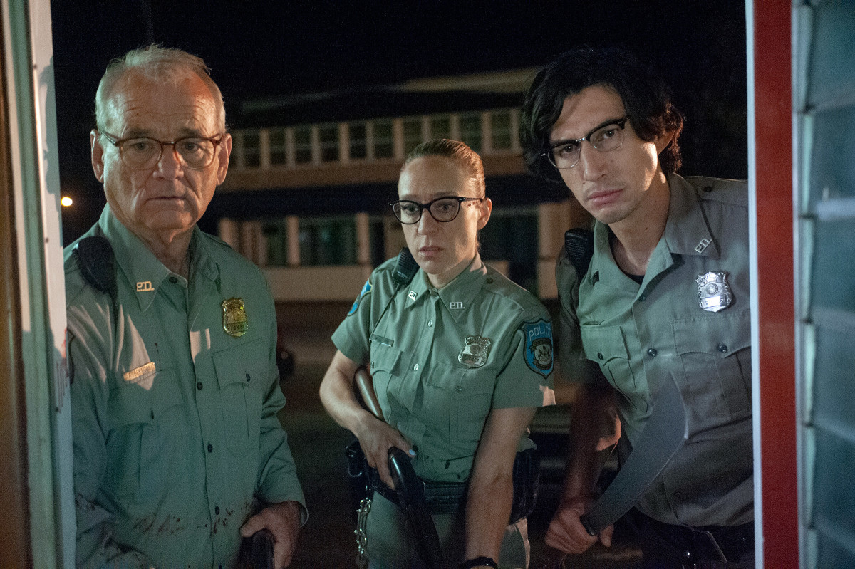 Bill Murray, Chloë Sevigny, and Adam Driver in The Dead Don't Die.