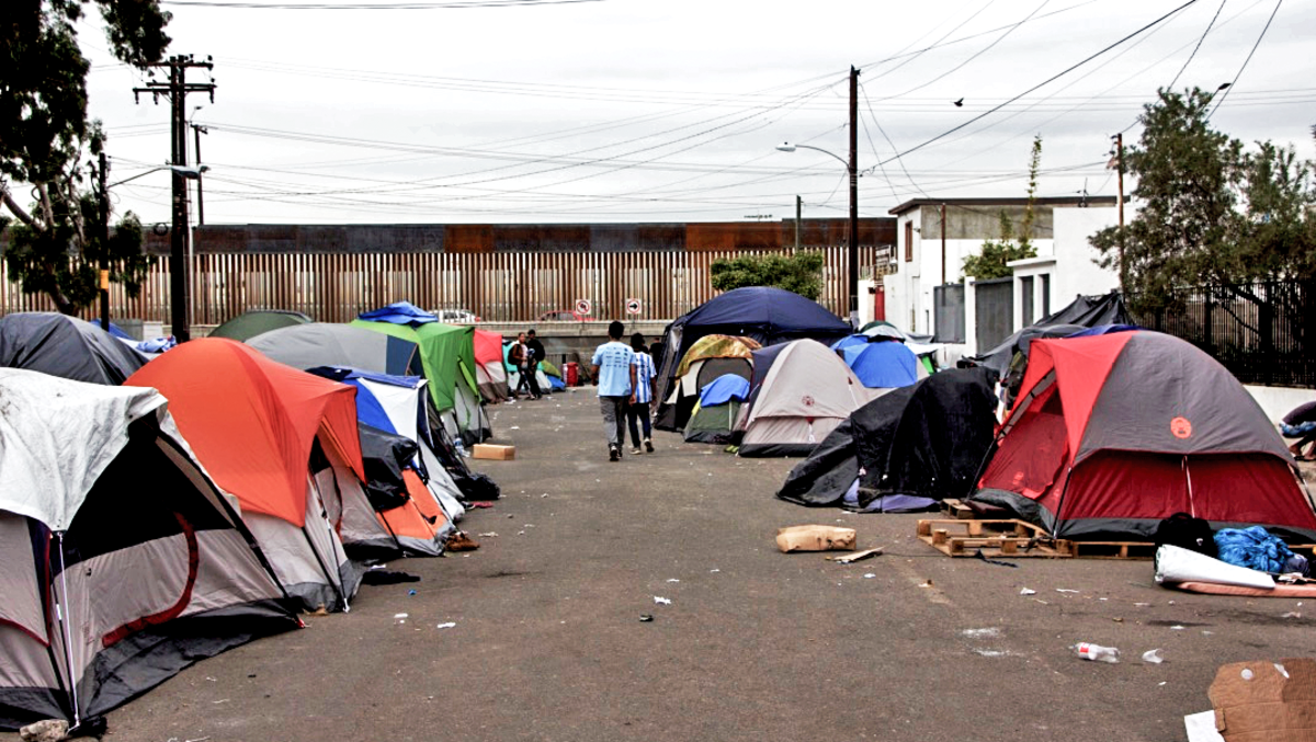 The tent camp where Marisol and her children had lived for almost a month, in Tijuana's notorious Zona Norte neighborhood.