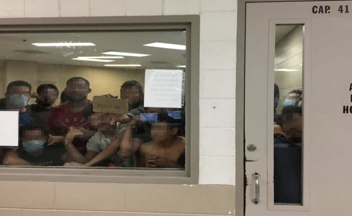 Eighty-eight adult males held in a cell with a maximum capacity of 41, observed by the OIG on June 12th, 2019, at Border Patrol's Fort Brown Station.