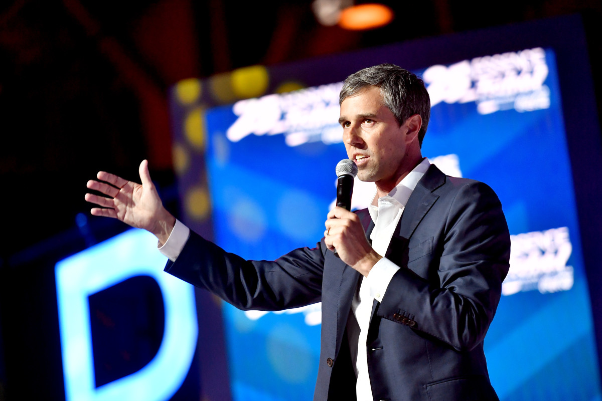Beto O'Rourke speaks on stage at the 2019 Essence Festival at the Ernest N. Morial Convention Center on July 6th, 2019, in New Orleans, Louisiana.