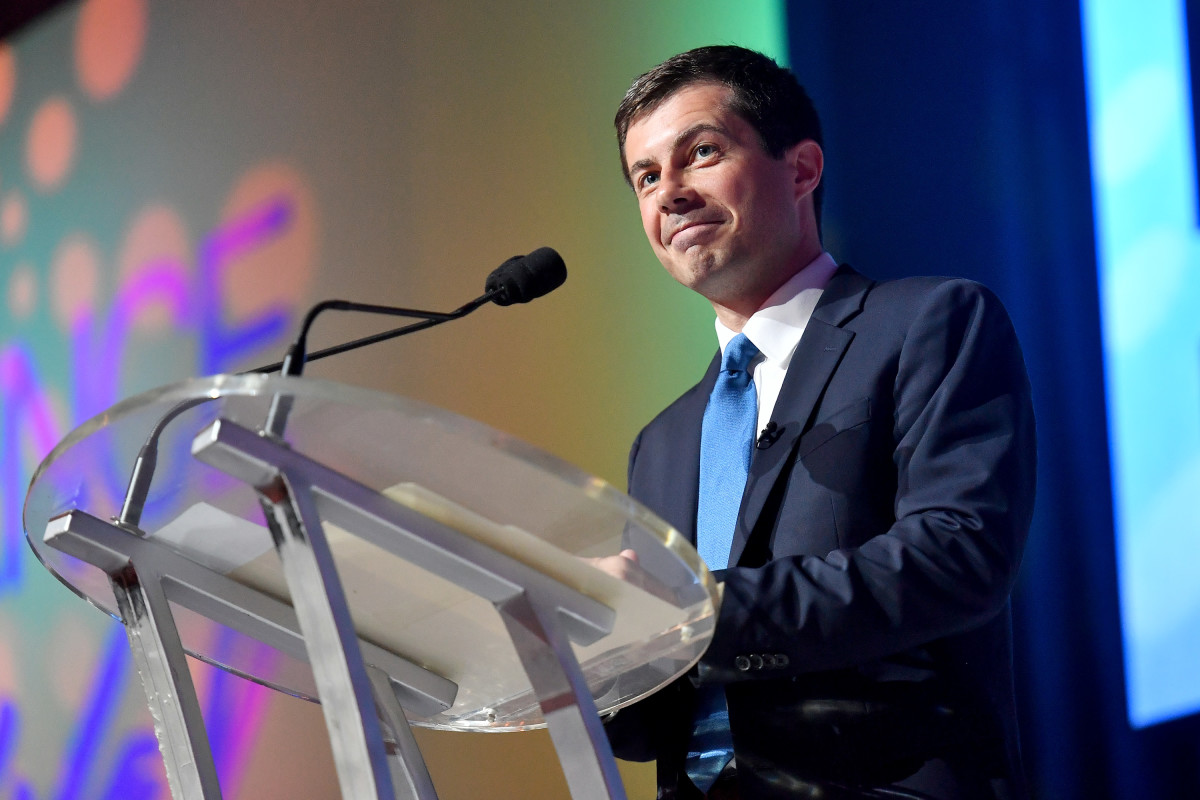 Mayor Pete Buttigieg speaks on stage at the 2019 Essence Festival at the Ernest N. Morial Convention Center on July 7th, 2019, in New Orleans, Louisiana.