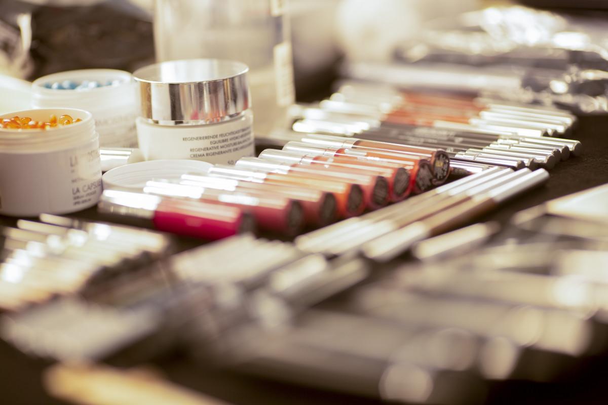 Make-up on display.