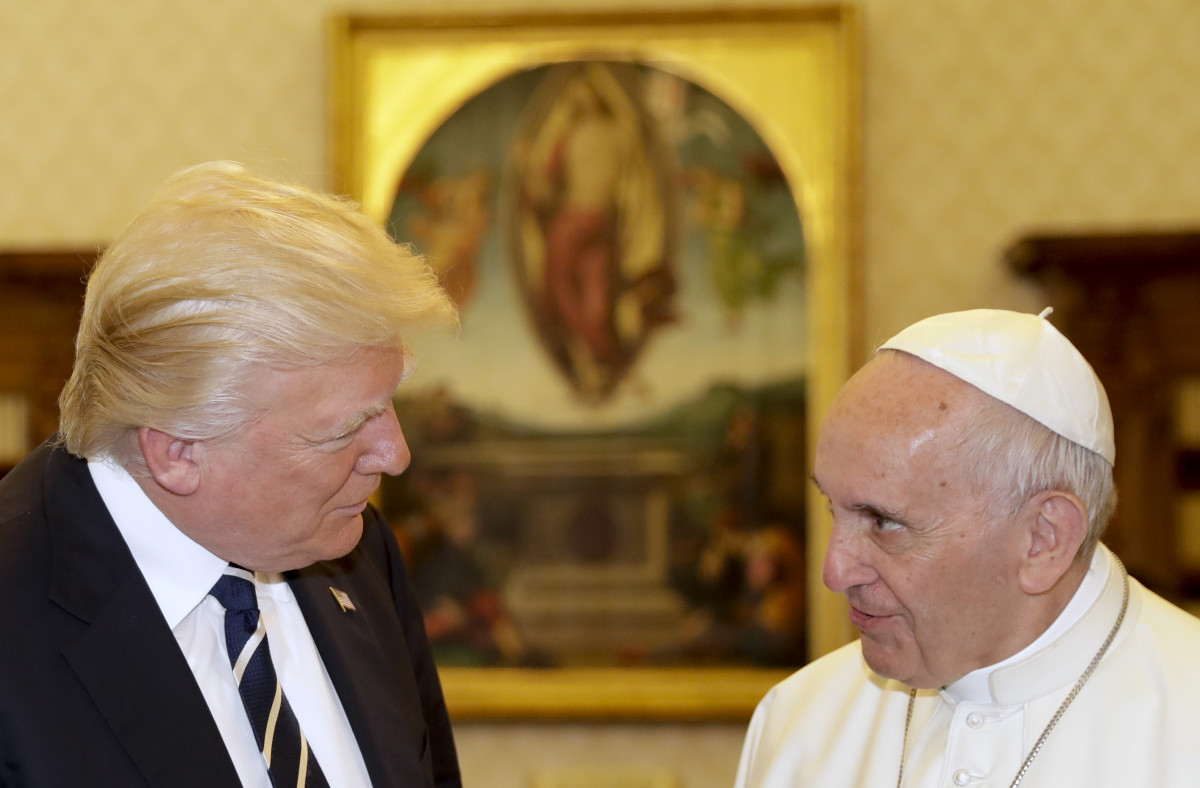 Pope Francis meets President Donald Trump at the Vatican on May 24th, 2017.