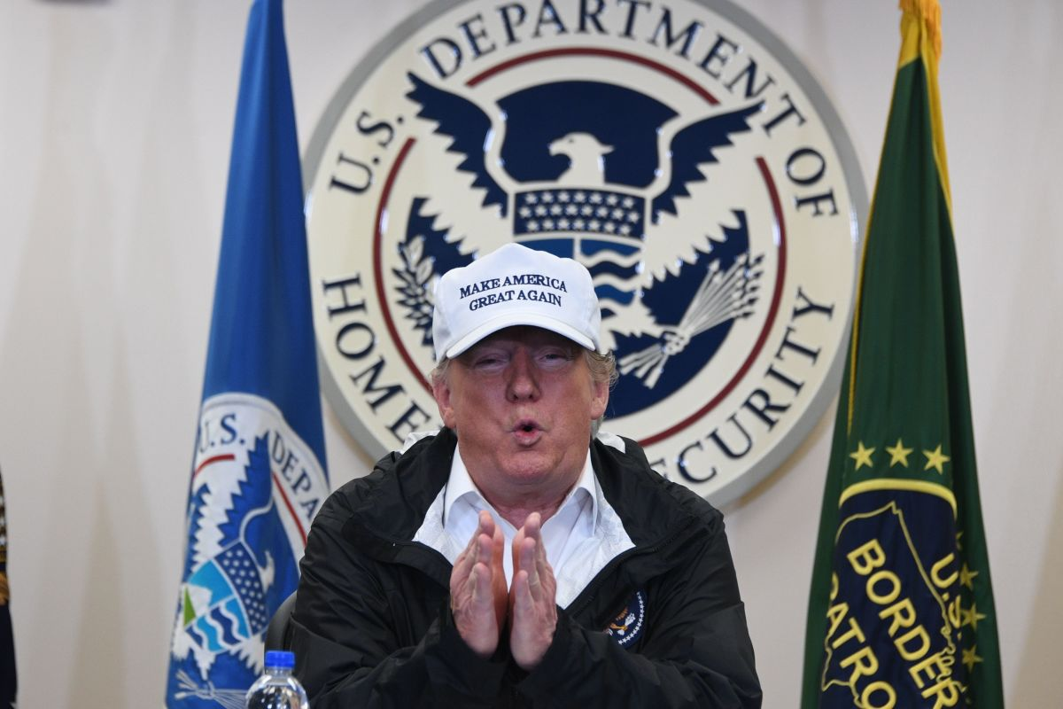 President Donald Trump speaks during his visit to U.S. Border Patrol McAllen Station in McAllen, Texas, on January 10th, 2019.