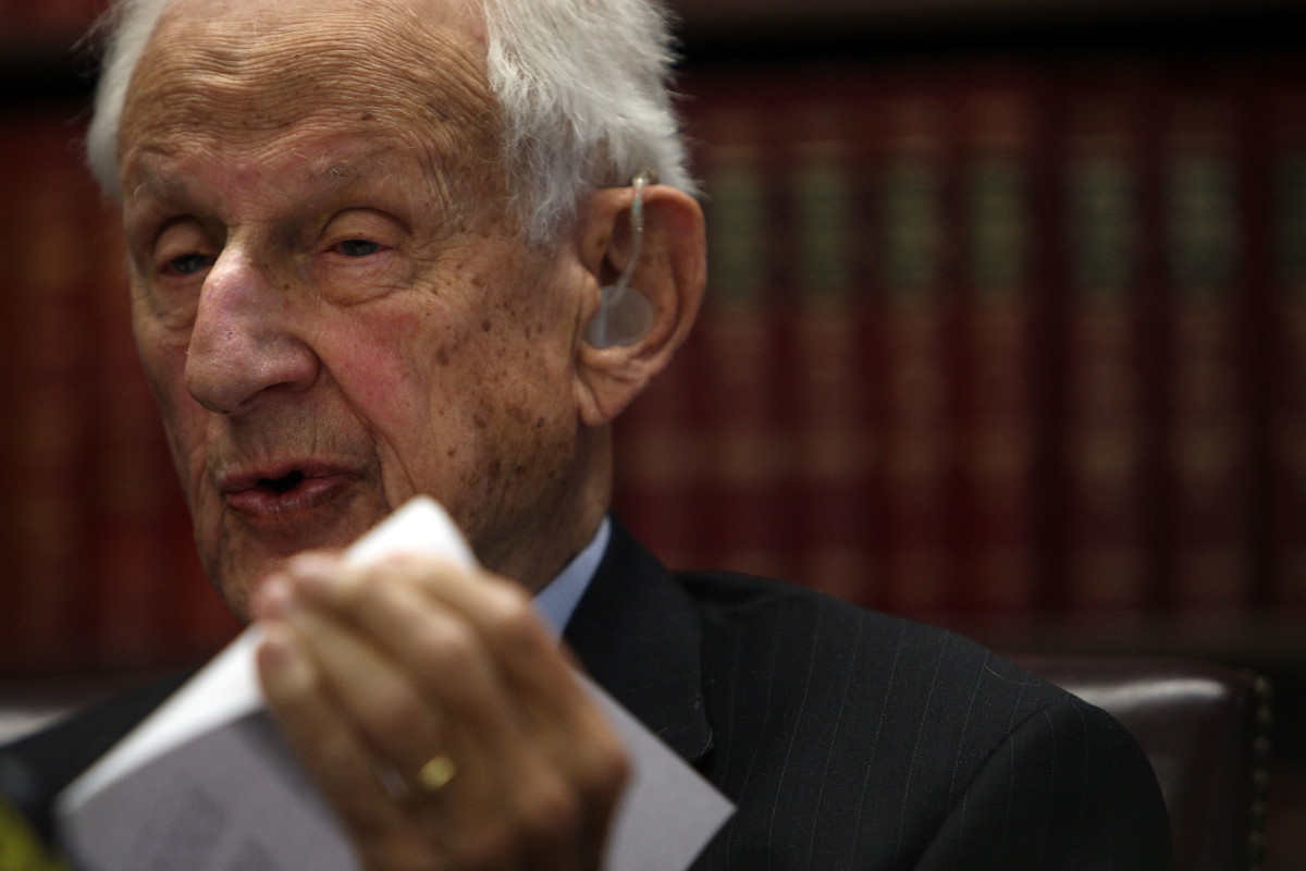 Then-Manhattan District Attorney Robert Morgenthau pictured on October 2nd, 2009, in New York City.