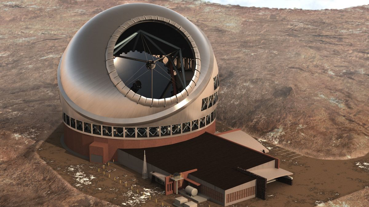 A computer rendering of the Thirty Meter Telescope.