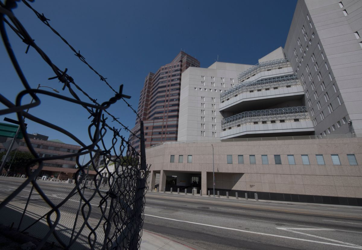 The main ICE detention center is seen in downtown Los Angeles, California, on July 14th, 2019.