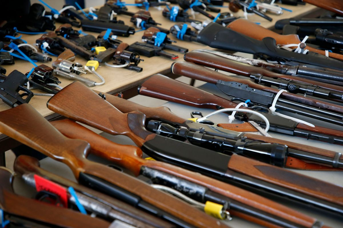 Guns at a Miami buy-back event.