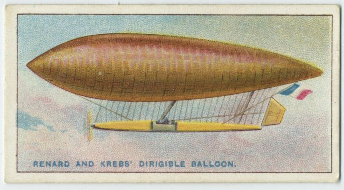 A dirigible balloon first launched by Charles Renard and Arthur Constantin Krebs in 1884.
