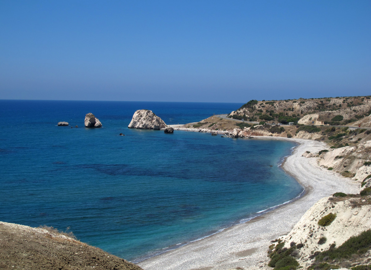 The east Mediterranean island of Cyprus.