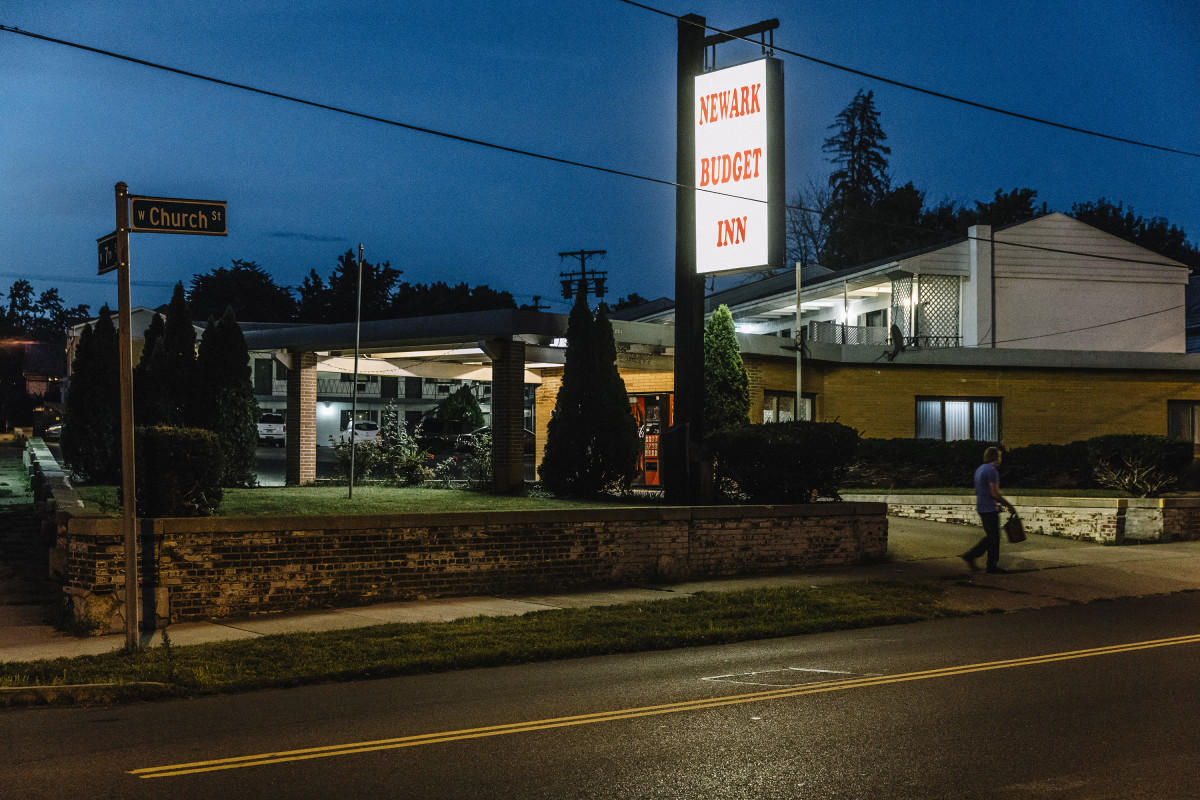 Newark, Ohio, September 5th, 2018: The Newark Budget Inn located on West Church Street, which law enforcement officials cite as a location of regular drug activity.