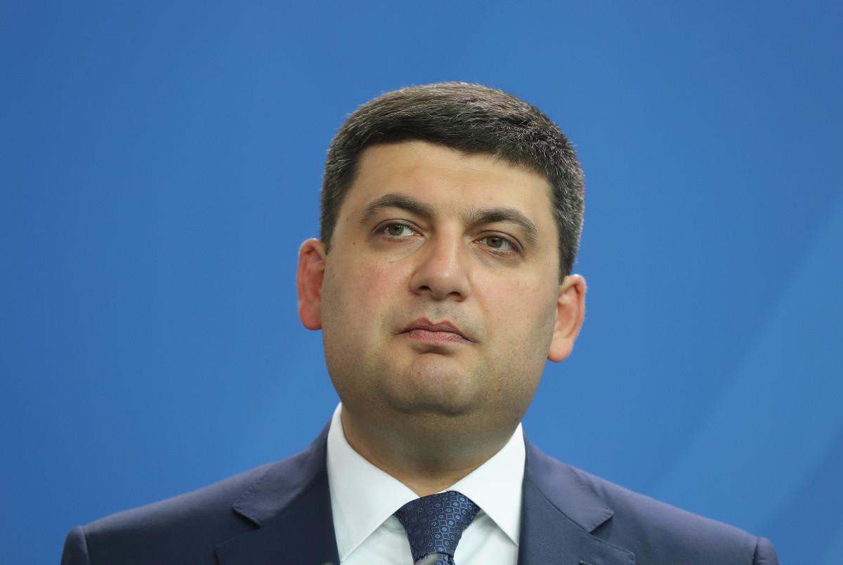 Ukrainian Prime Minister Volodymyr Groysman.