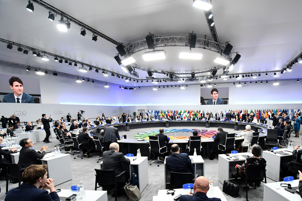 General view of the Plenary Session during the opening day of the G20 Leaders' Summit 2018 at Costa Salguero on November 30th, 2018, in Buenos Aires, Argentina.