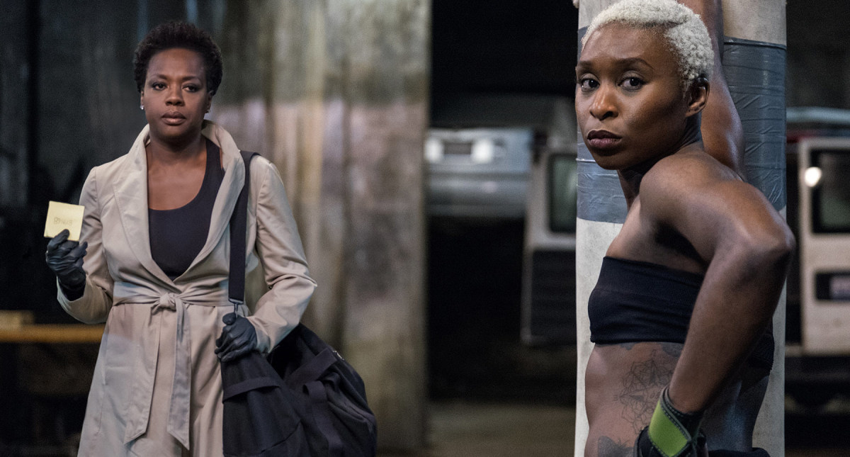 Viola Davis and Cynthia Erivo in Widows.