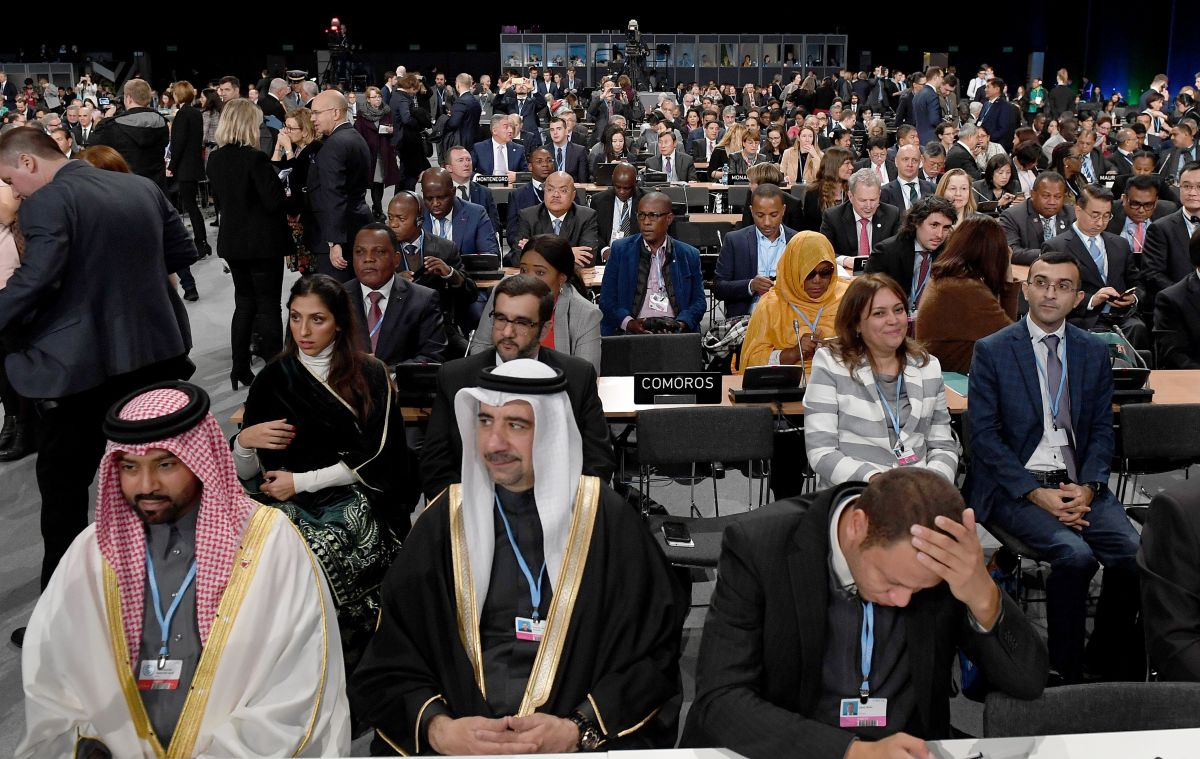 Leaders and negotiators from almost 200 nations listen to speeches during the opening of the COP24 summit on climate change in Katowice, Poland, on December 3rd, 2018.