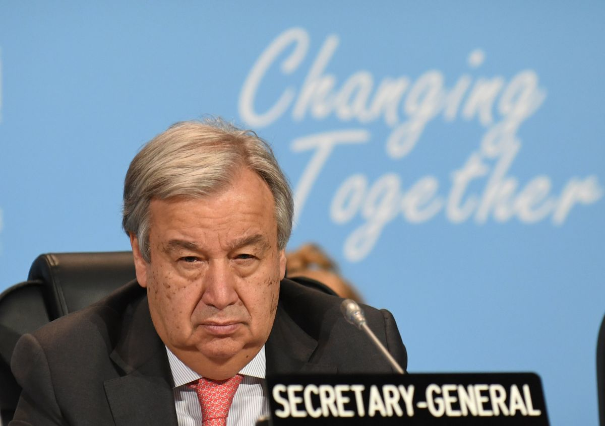 The United Nations Secretary-General Antonio Guterres attends a session at the COP24 summit on climate change in Katowice, Poland, on December 4th, 2018.