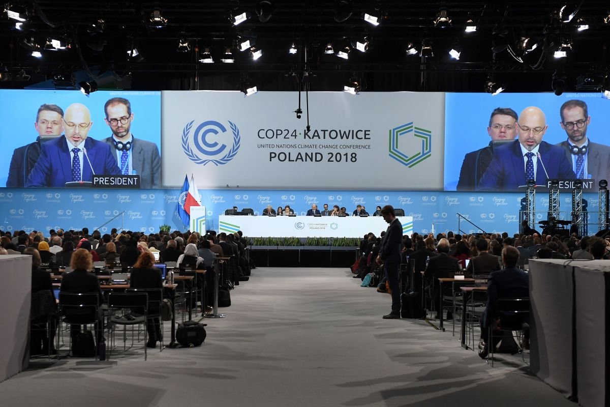 Polish Secretary of State for the Environment Michal Kurtyka speaks during the inaugural session at the 24th Conference of the Parties to the United Nations Framework Convention on Climate Change summit on December 2nd, 2018, in Katowice, Poland.