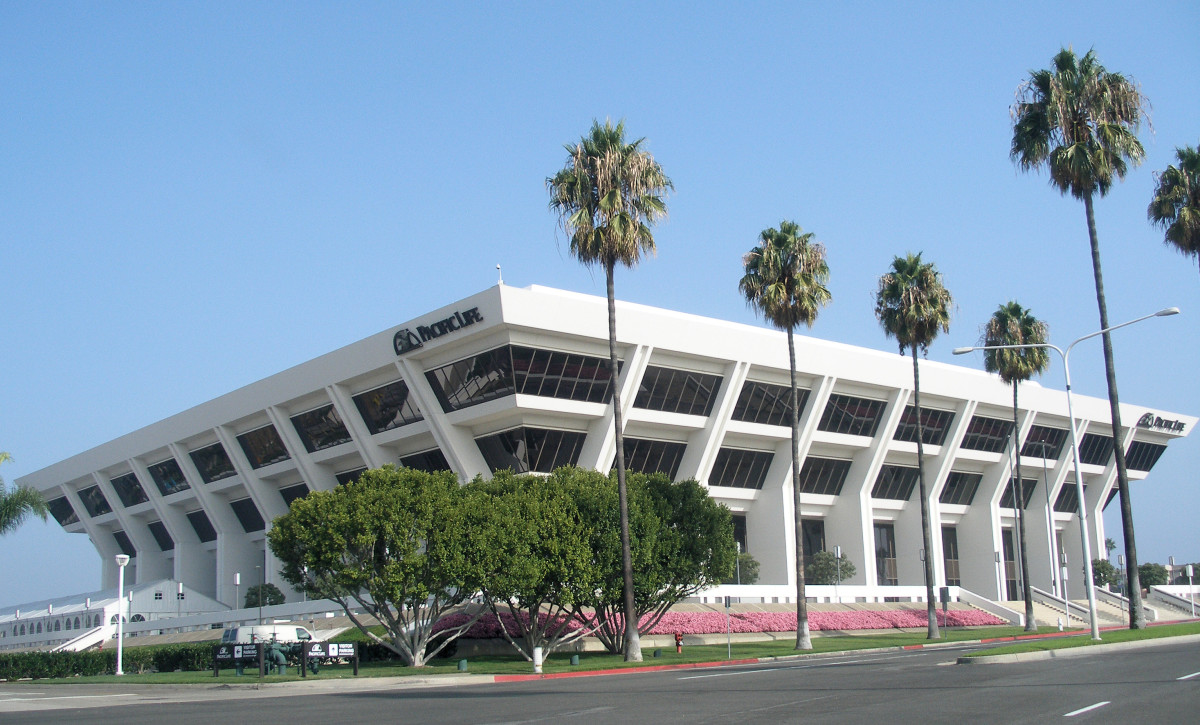 The headquarters of Pacific Life Insurance Company in Newport Beach, California.