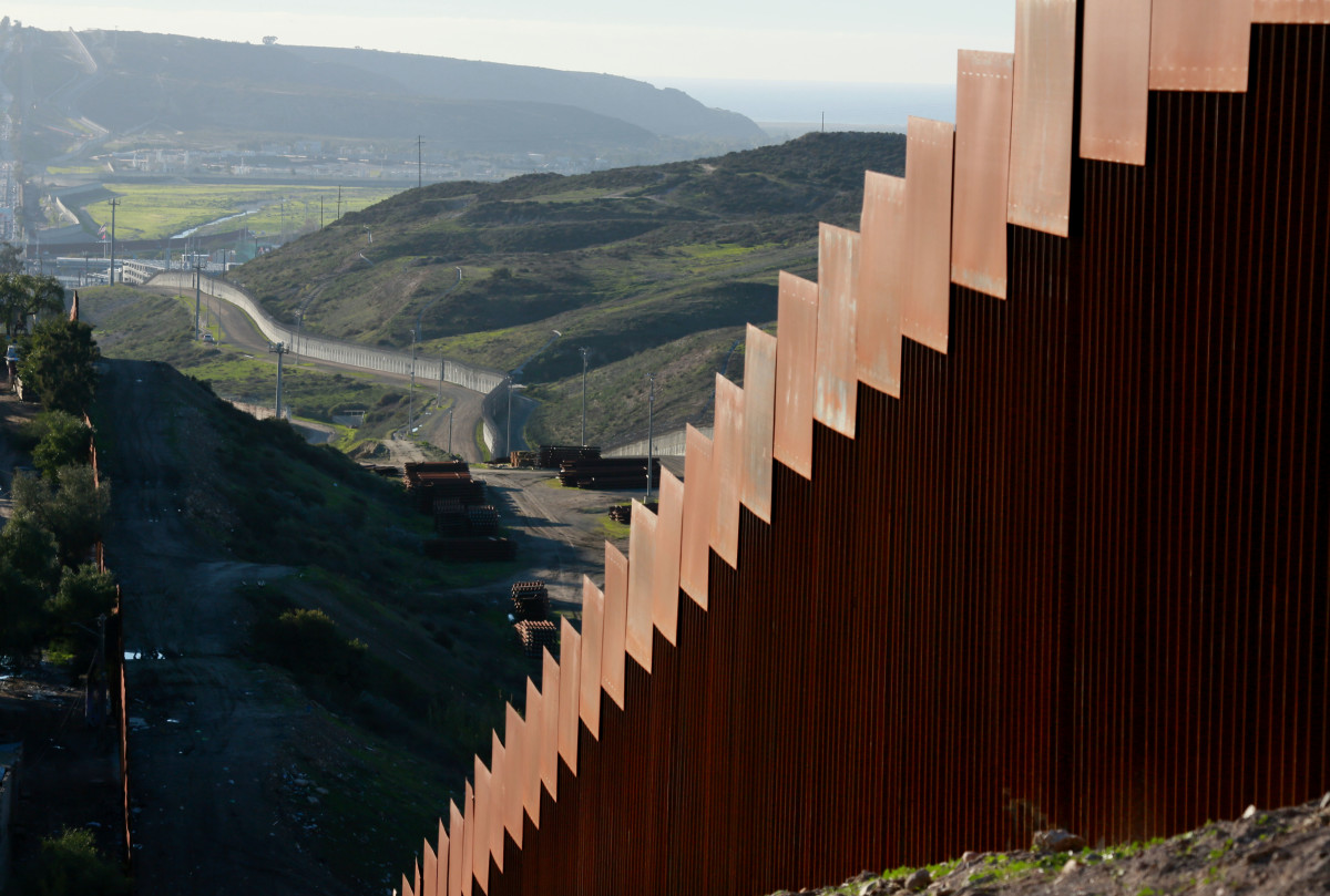 View of the U.S.–Mexico border wall on January 7th, 2019 in Tijuana, Mexico. President Donald Trump is considering declaring a national emergency if Democrats do not approve of $5.7 billion in funding to build a wall.