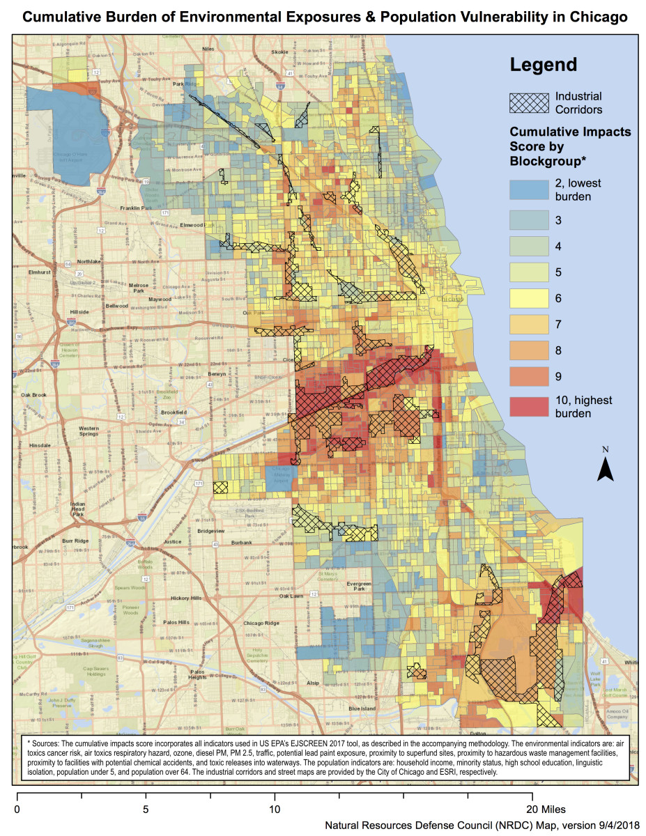 Bad Parts Of Chicago Map A Clever New NRDC Map Shows Which Chicago Neighborhoods Are Most