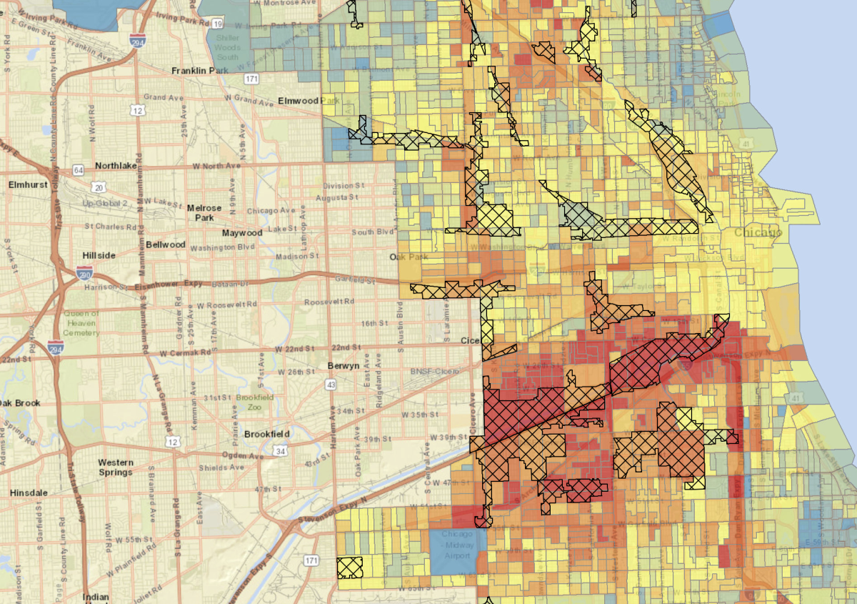 A Clever New Nrdc Map Shows Which Chicago Neighborhoods Are Most At