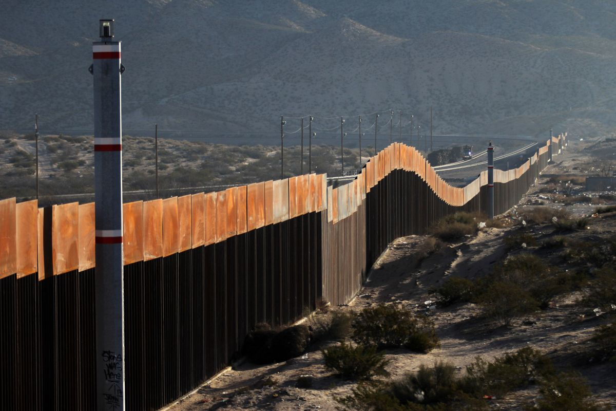 A view of the border wall between Mexico and the United States, in Ciudad Juarez, Chihuahua state, Mexico, on January 19th, 2018.