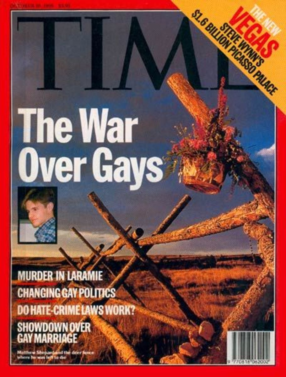 Steve Liss' photograph from Laramie, Wyoming, on the cover of Time magazine in October of 1998.