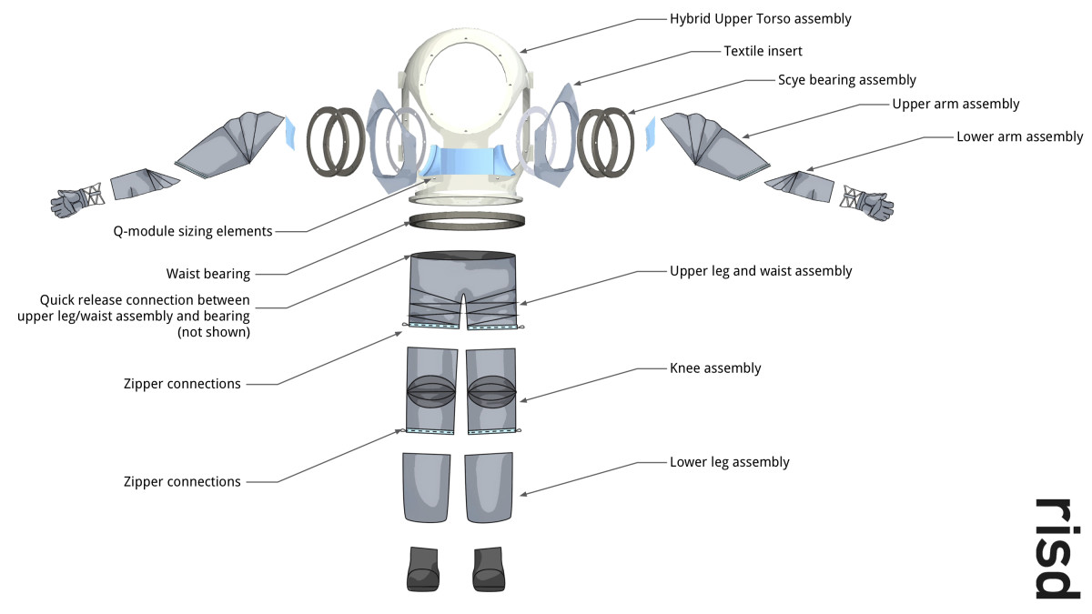 Michael Lye and his students designed a modular spacesuit meant to better fit individual astronauts.